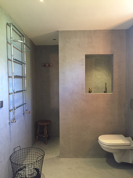 badkamer beton cire interieur meubilair idee n. Black Bedroom Furniture Sets. Home Design Ideas
