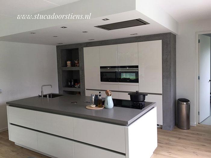 Keuken Met Beton : Beton ciré stucadoor in stiens